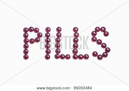 Pills Written With Purple Pills