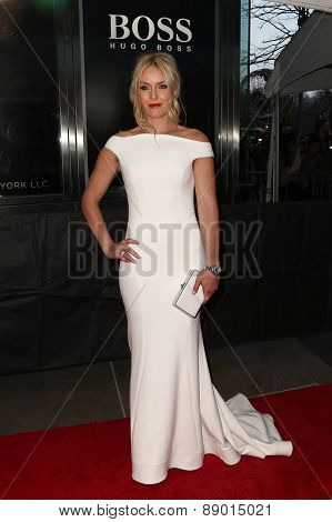 NEW YORK-APR 21: Alpine ski racer Lindsey Vonn attends the 2015 Time 100 Gala at Frederick P. Rose Hall, Jazz at Lincoln Center on April 21, 2015 in New York City.