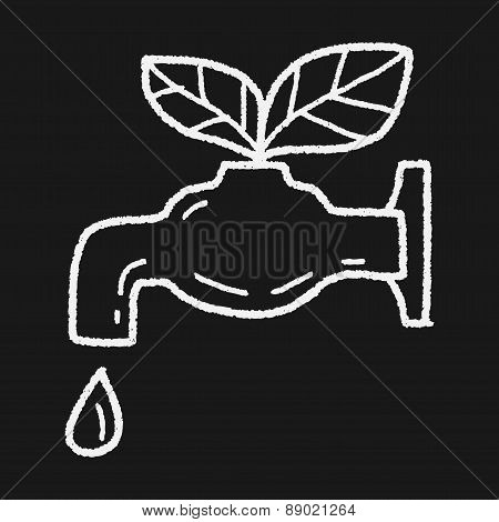Environmental Protection Concept; Conserve Water, Protect The Environment; Doodle, illustration vector eps , Children's crayon drawing stylen. poster