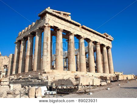 Parthenon on the Acropolis in Athens, Greece