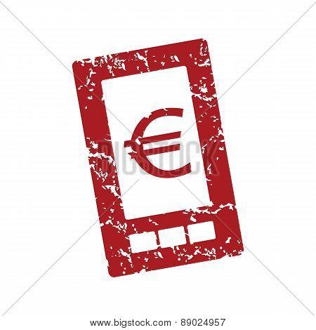 Red grunge euro phone logo