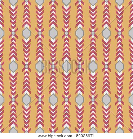 Seamless pattern with knight armor elements. Red orange white and gray colors poster