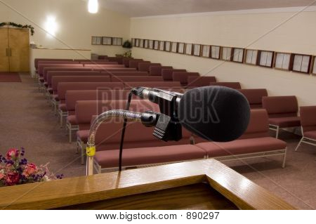 Mic With Empty Pews