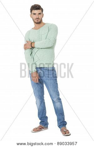 Handsome Confident Relaxed Young Man