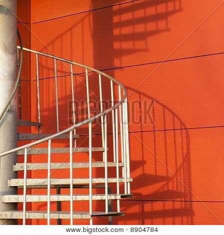 Spiral Staircase And Shadow Abstract
