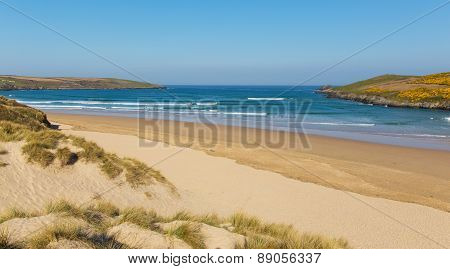 Crantock North Cornwall England UK near Newquay popular surfing destination for surfers