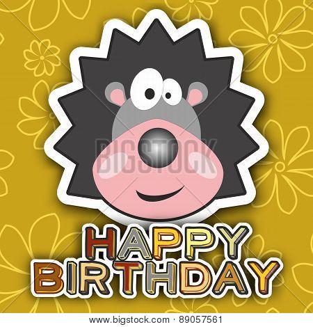 Happy Birthday Card Design. Vector Illustration