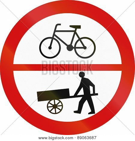 No Bicycles Or Handcarts In Poland