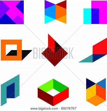 Human creativity and innovation creating new colorful worlds logo icon