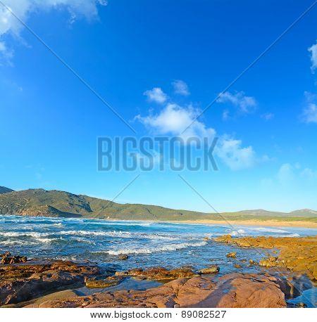 Red Rocks By Porto Ferro Shore