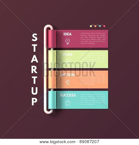 Banner business infographic template. Startup concept.