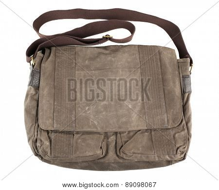 Shoulder bag isolated on white