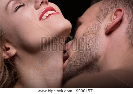 Couple In Foreplay