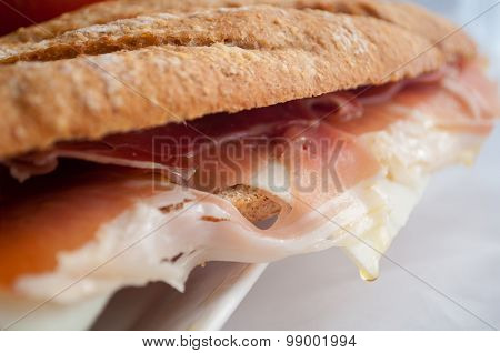 sandwich with ham bocadillo
