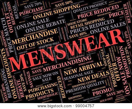 Menswear Word Represents Mans Men's And Person