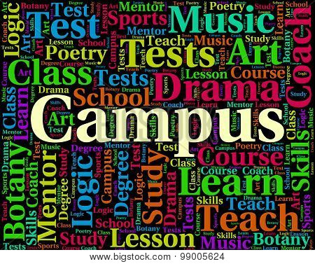 Campus Word Representing School Academies And Faculty poster