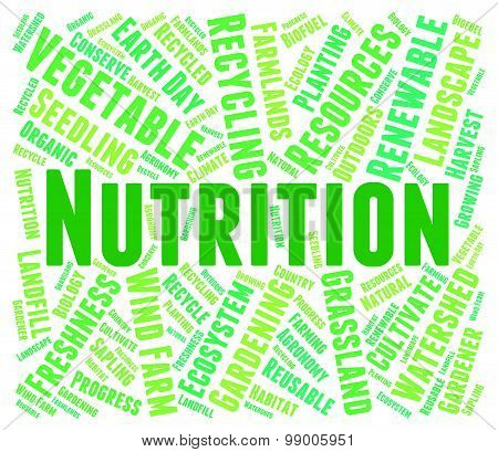 Nutrition Word Shows Food Words And Nutriments