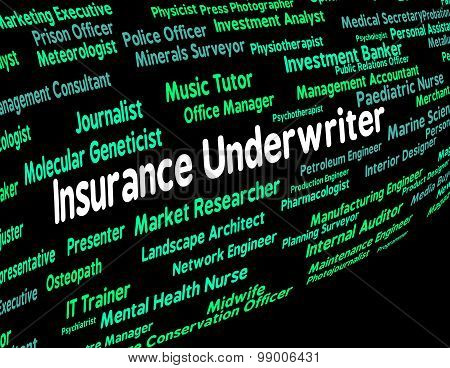 Insurance Underwriter Represents Policy Protection And Insured