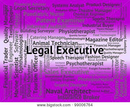 Legal Executive Shows Senior Administrator And Da