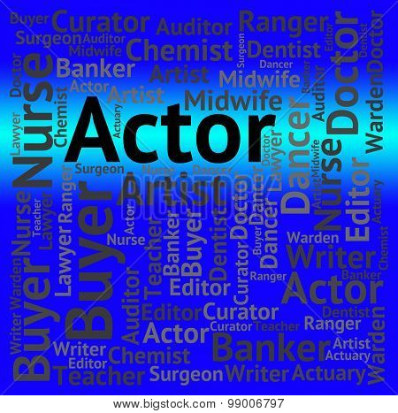 Actor Job Shows Cast Member And Jobs
