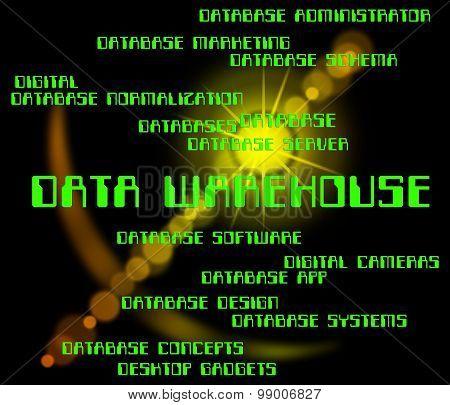 Data Warehouse Indicates Storehouse Depot And Bytes