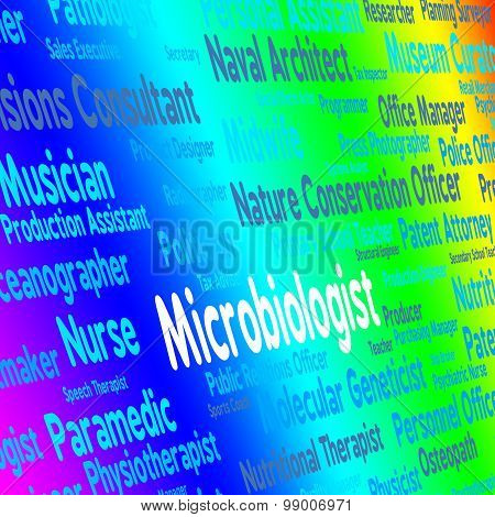 Microbiologist Job Shows Cell Physiology And Biology
