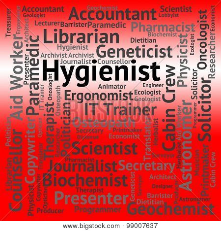 Hygienist Job Represents Public Health And Career