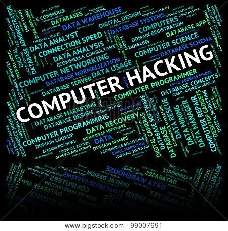 Computer Hacking Meaning Processor Hacked And Internet poster