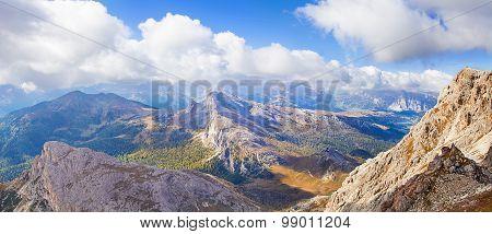 View from Mount Lagazuoi, Falzarego path, Dolomites