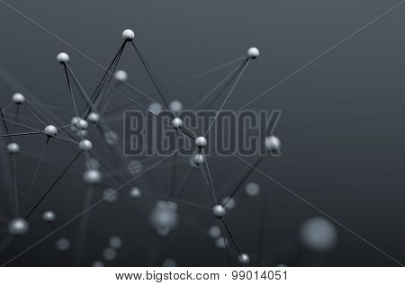 Abstract 3D Rendering of Structure with Spheres.