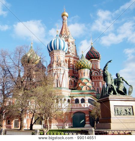 The Cathedral of Saint Basil the blessed in Moscow Russia poster