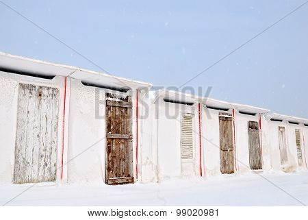 Old Building Under The Snow