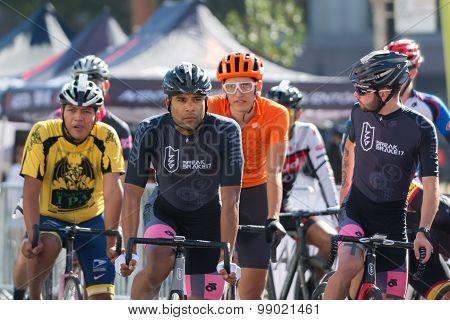 Cyclists Before Bike Race