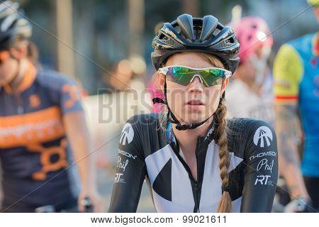 Cyclist Before Bike Race