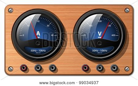 Ammeter And Voltmeter, Vector