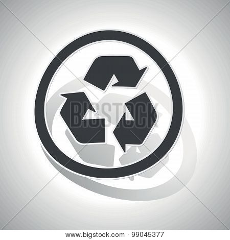 Curved recycle sign icon