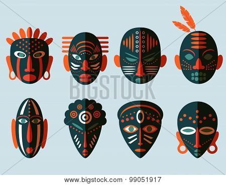 African Mask Icons