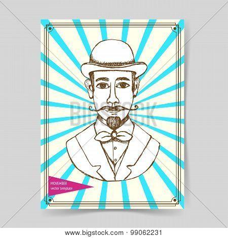 Sketch Man In Hat