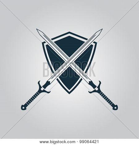 Two swords and shiel