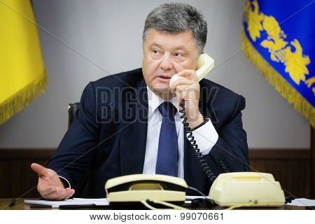 President Of Ukraine Petro Poroshenk