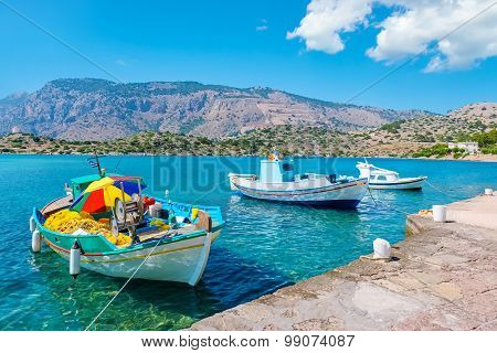 Boats In Harbour. Symi, Greece