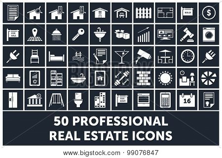 Real Estate Icons 50 Professional Designs