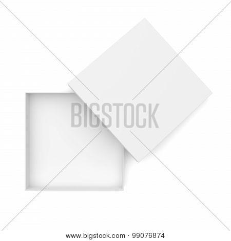 White Opened Flat Box