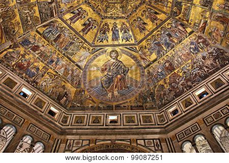 Baptistery In Florence, Italy