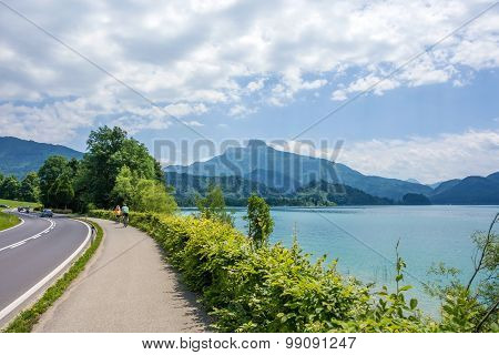Bikeway Along Lake Attersee