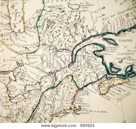 Antike Karte von Kanada