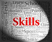 Skills Word Showing Text Aptitudes And Skilled poster