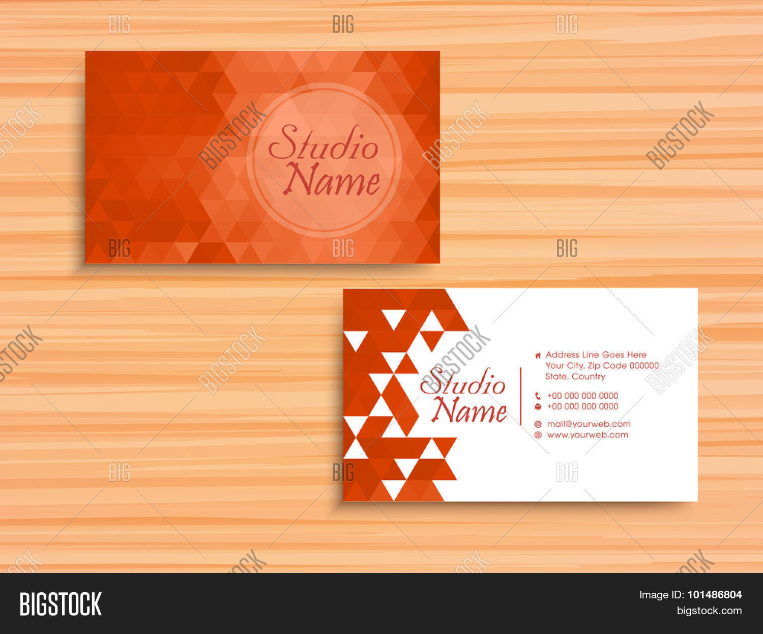 Stylish horizontal vector photo free trial bigstock stylish horizontal business card name card or visiting card set with origami abstract design in colourmoves
