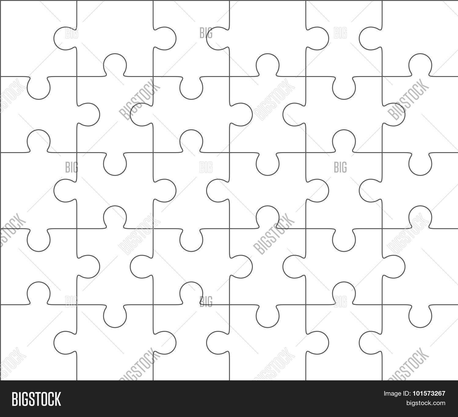 Jigsaw Puzzle Blank Vector & Photo (Free Trial) | Bigstock
