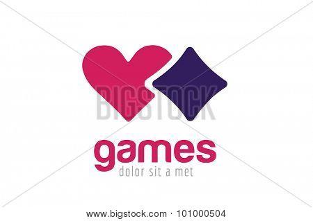 Casino logo icon. Casino poker, cards or casino game and money. Casino vector icons. Casino games. Casino cards. Banner with casino logo badges. Game cards. Playing casino games. Casino banner